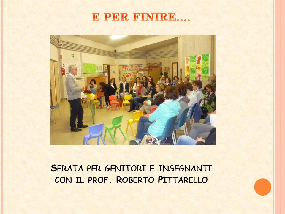 Serata per genitori e insegnanti con il prof. Roberto Pittarello