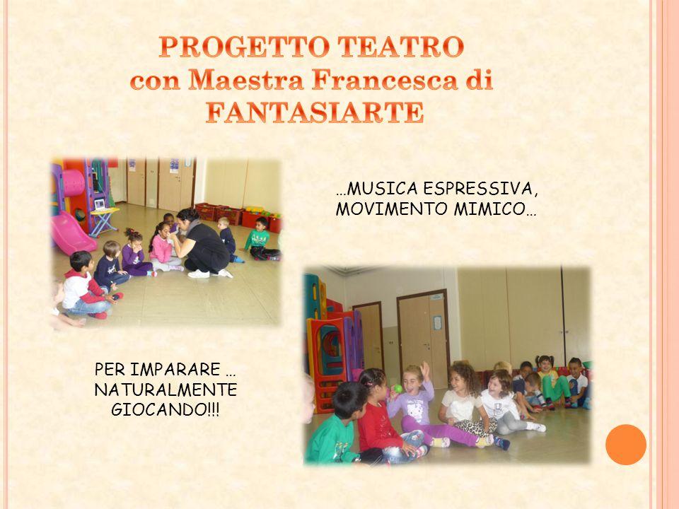 PROGETTO TEATRO con Maestra Francesca di FANTASIARTE