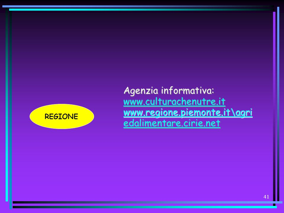 Agenzia informativa: www.culturachenutre.it