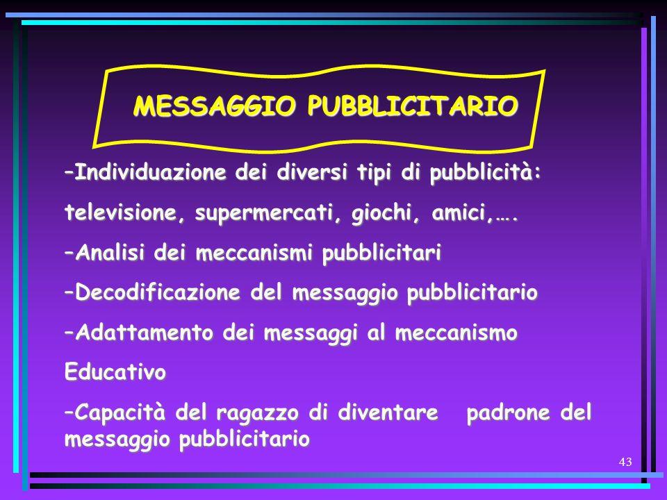 MESSAGGIO PUBBLICITARIO