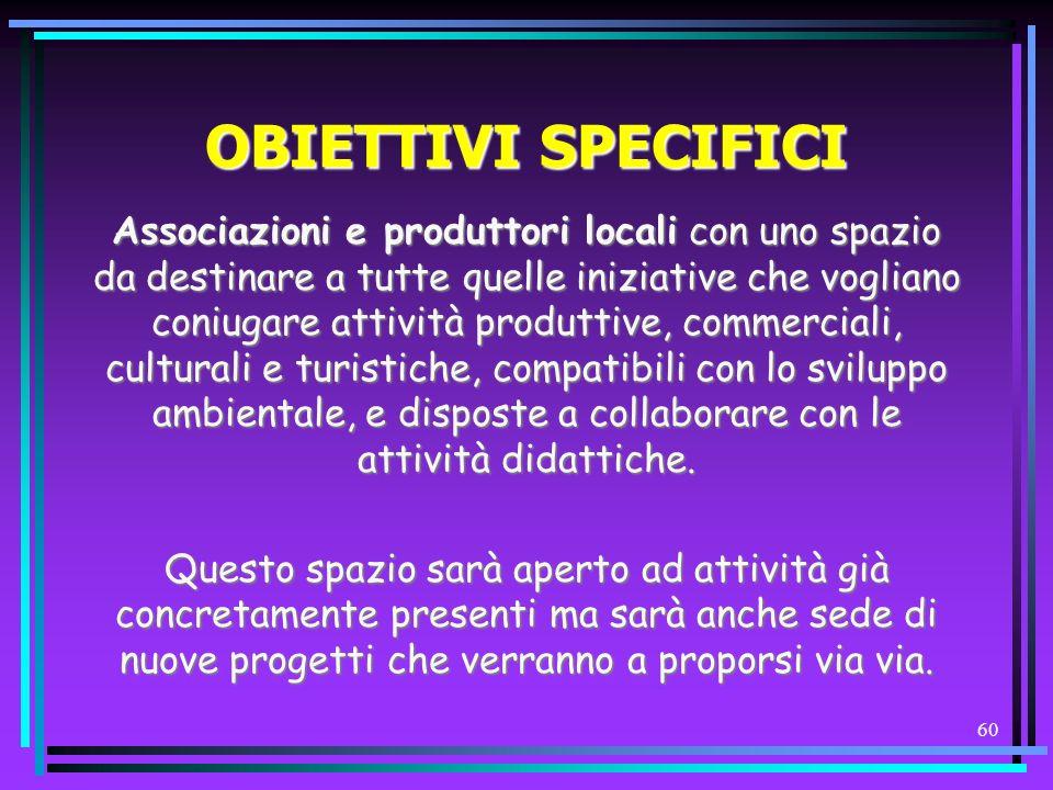 OBIETTIVI SPECIFICI