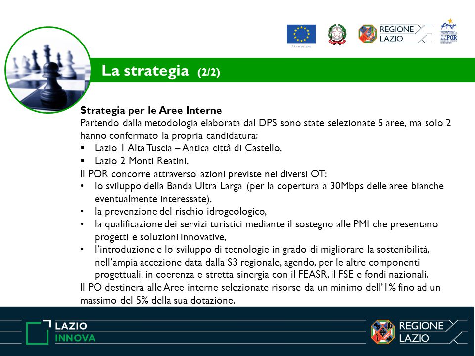 La strategia (2/2) Strategia per le Aree Interne