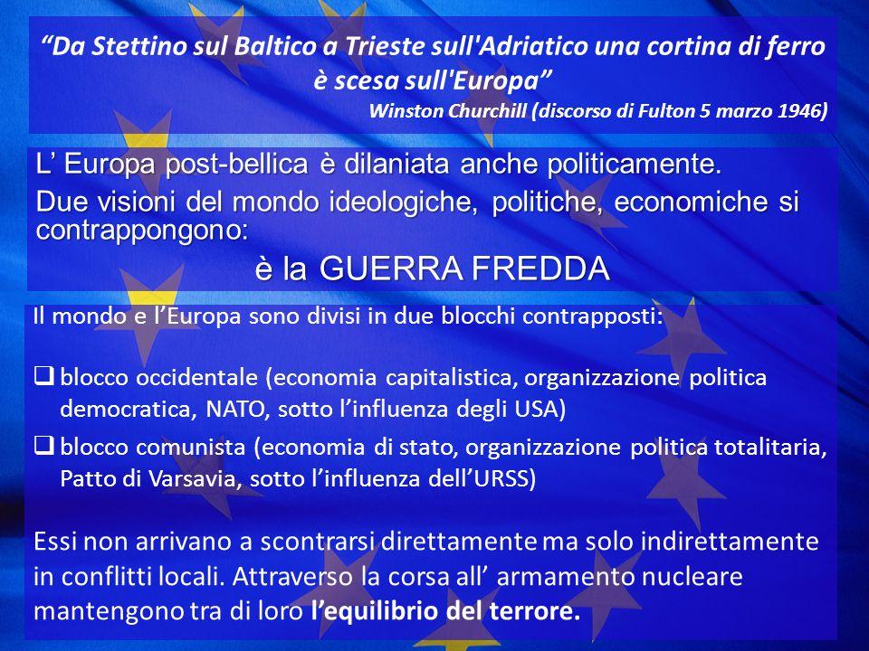 Da Stettino sul Baltico a Trieste sull Adriatico una cortina di ferro è scesa sull Europa
