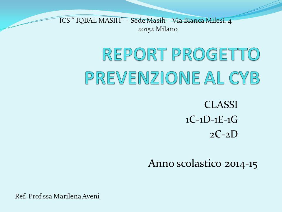 REPORT PROGETTO PREVENZIONE AL CYB
