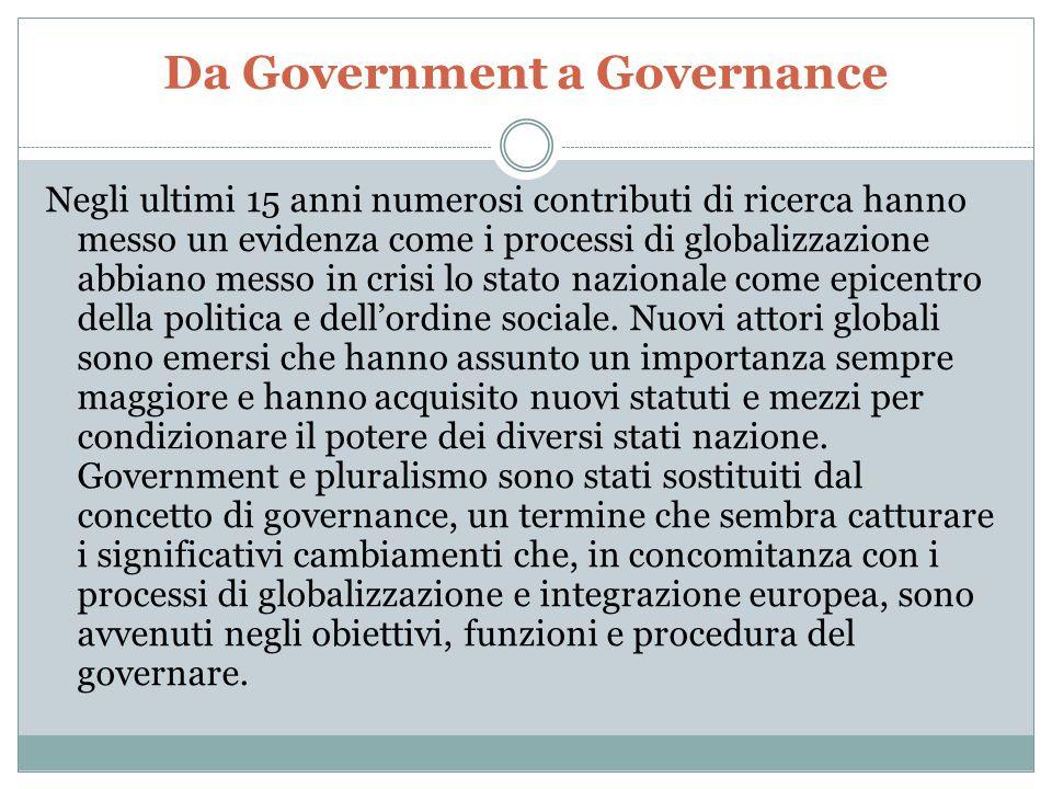 Da Government a Governance