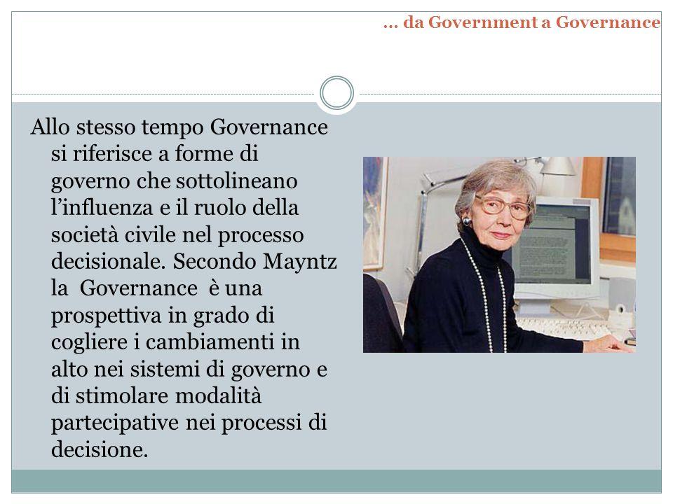 … da Government a Governance