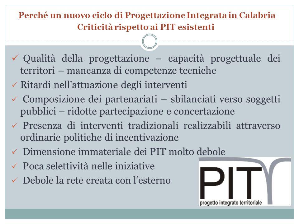 Perché un nuovo ciclo di Progettazione Integrata in Calabria