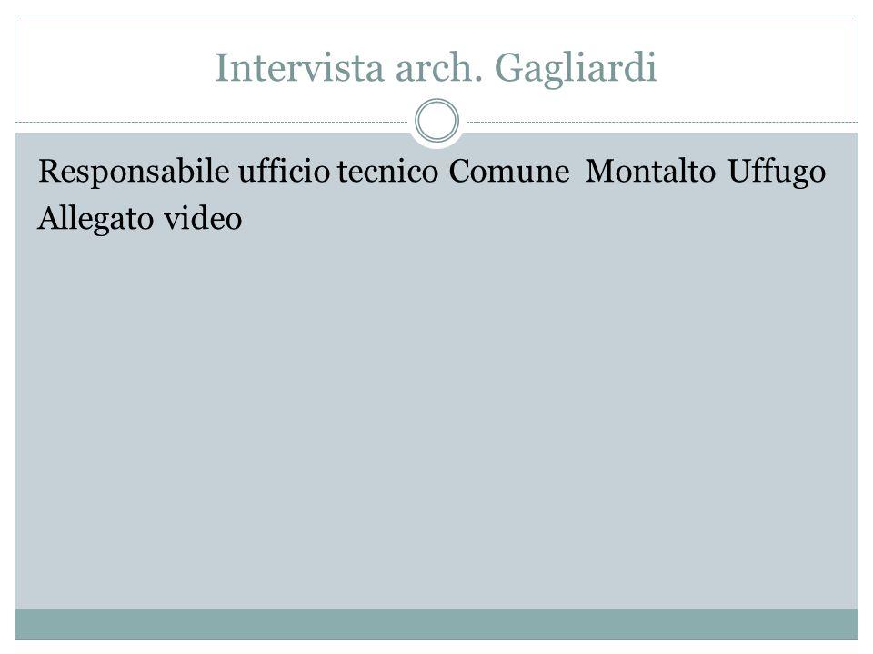 Intervista arch. Gagliardi