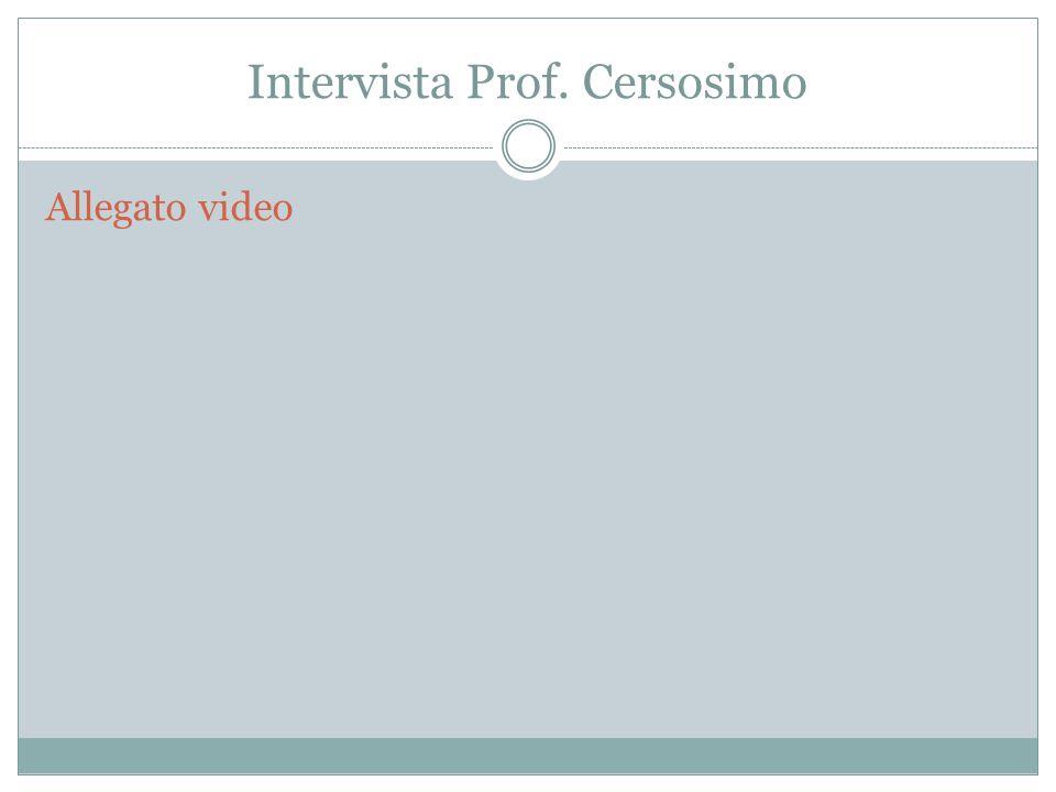 Intervista Prof. Cersosimo