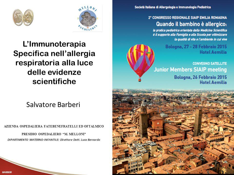 L'Immunoterapia Specifica nell'allergia respiratoria alla luce delle evidenze scientifiche