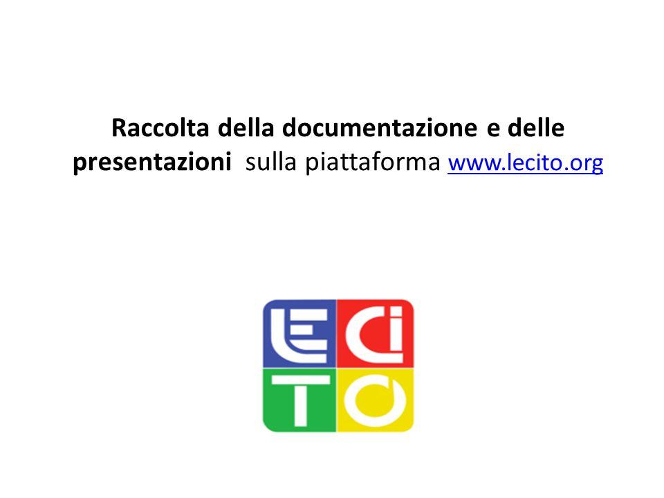 Raccolta della documentazione e delle presentazioni sulla piattaforma www.lecito.org