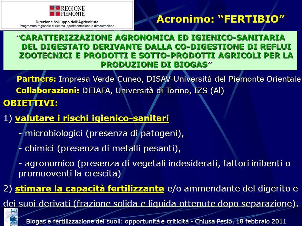 Partners: Impresa Verde Cuneo, DISAV-Università del Piemonte Orientale