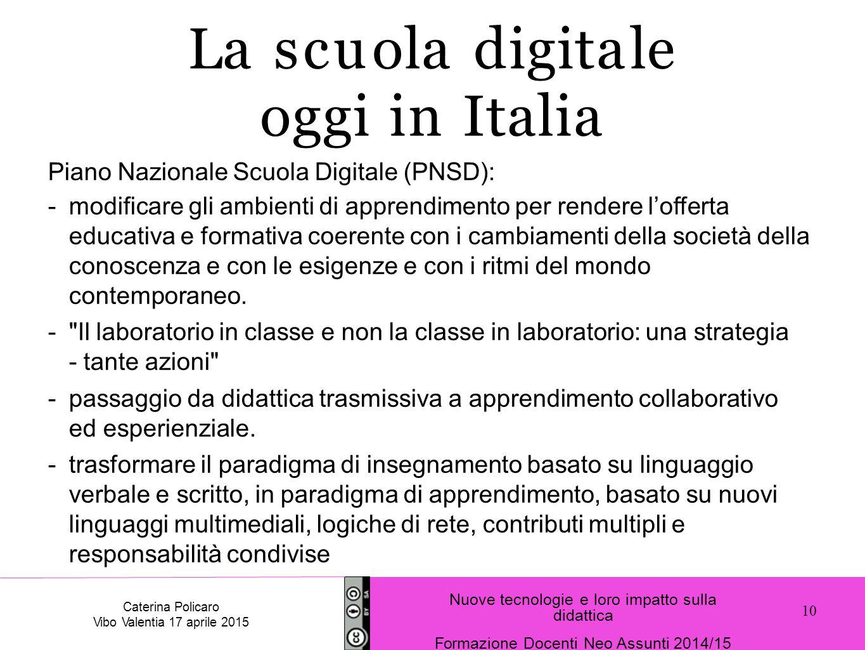La scuola digitale oggi in Italia