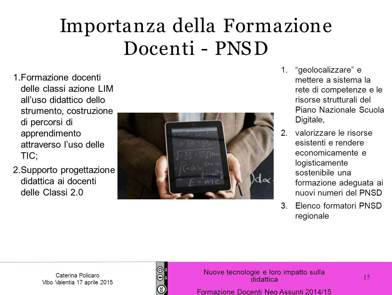 Importanza della Formazione Docenti - PNSD