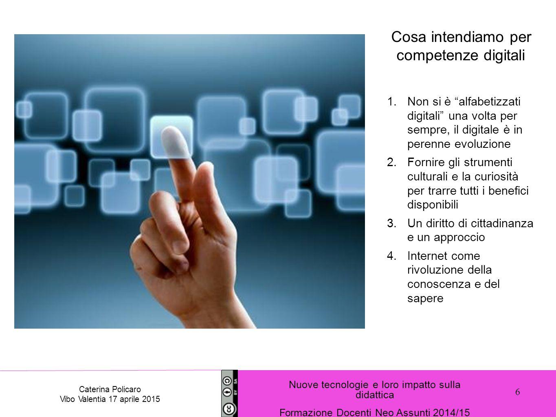 Cosa intendiamo per competenze digitali