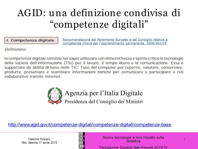 AGID: una definizione condivisa di competenze digitali