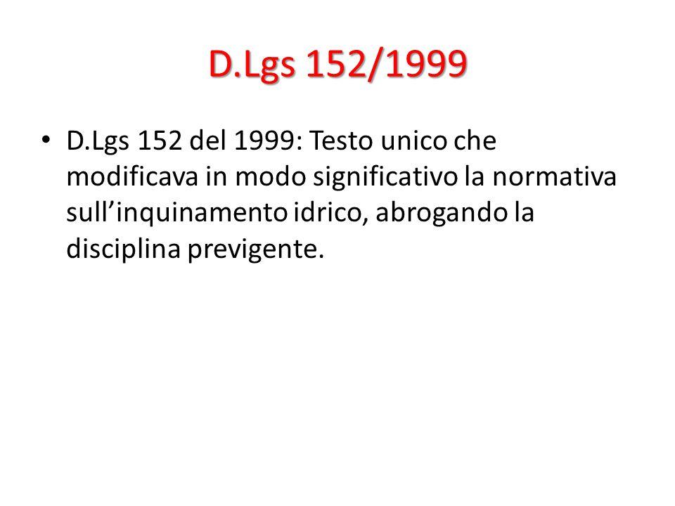 D.Lgs 152/1999