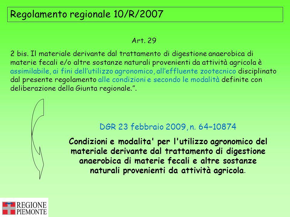 Regolamento regionale 10/R/2007