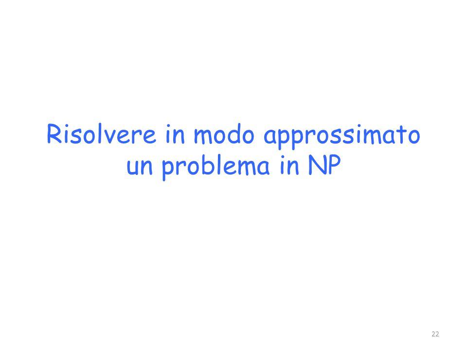 Risolvere in modo approssimato un problema in NP