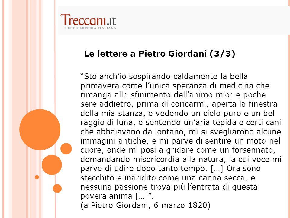Le lettere a Pietro Giordani (3/3)