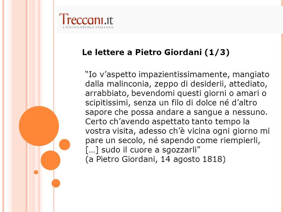 Le lettere a Pietro Giordani (1/3)