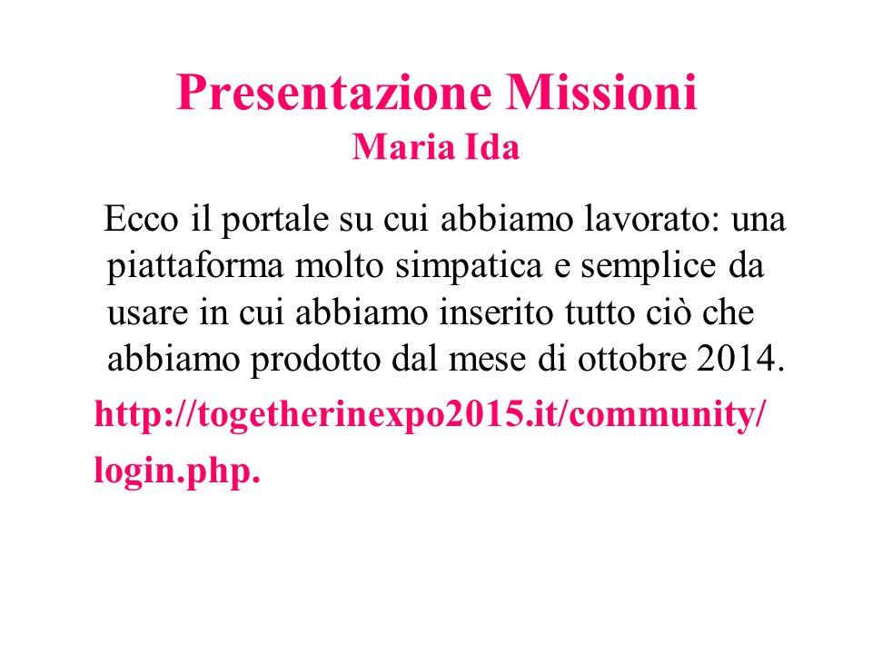 Presentazione Missioni Maria Ida