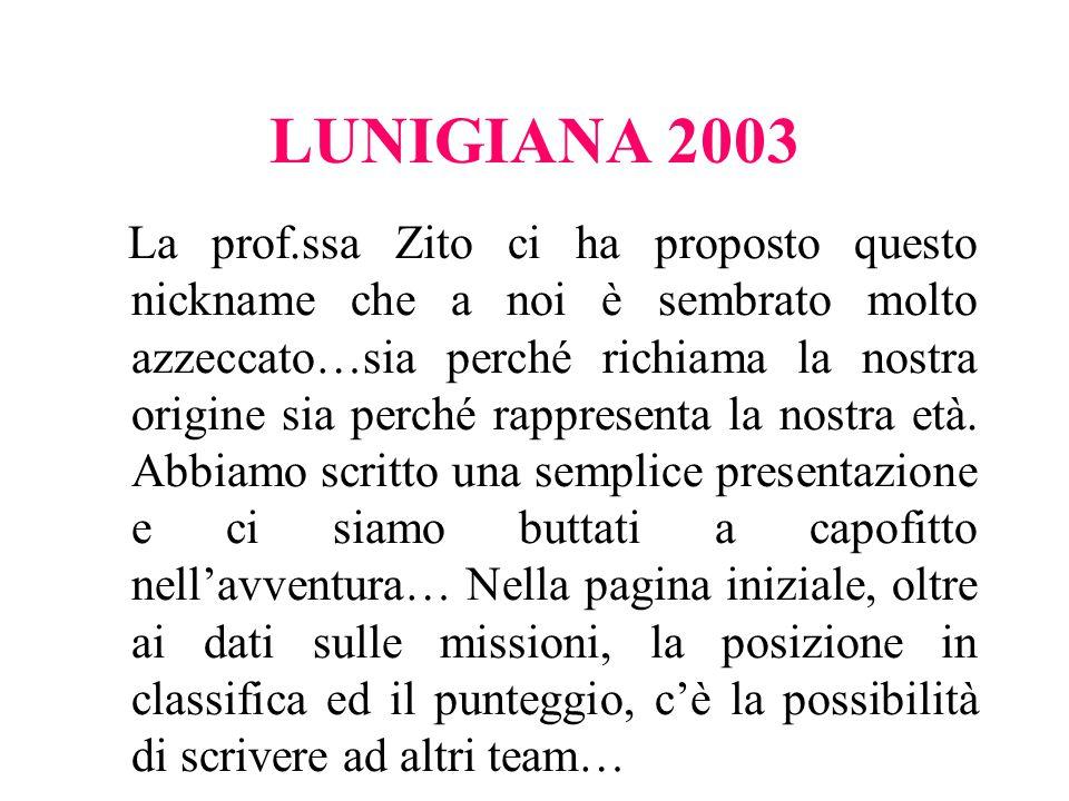 LUNIGIANA 2003