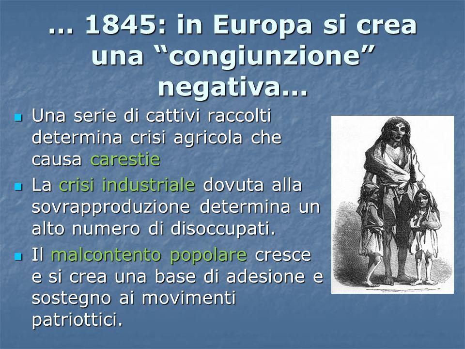 … 1845: in Europa si crea una congiunzione negativa...