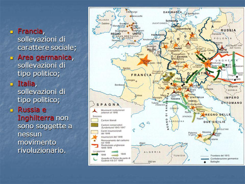 Francia, sollevazioni di carattere sociale;