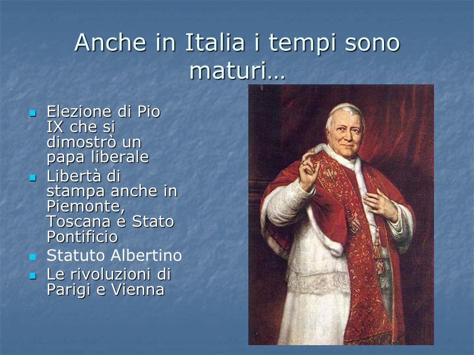 Anche in Italia i tempi sono maturi…
