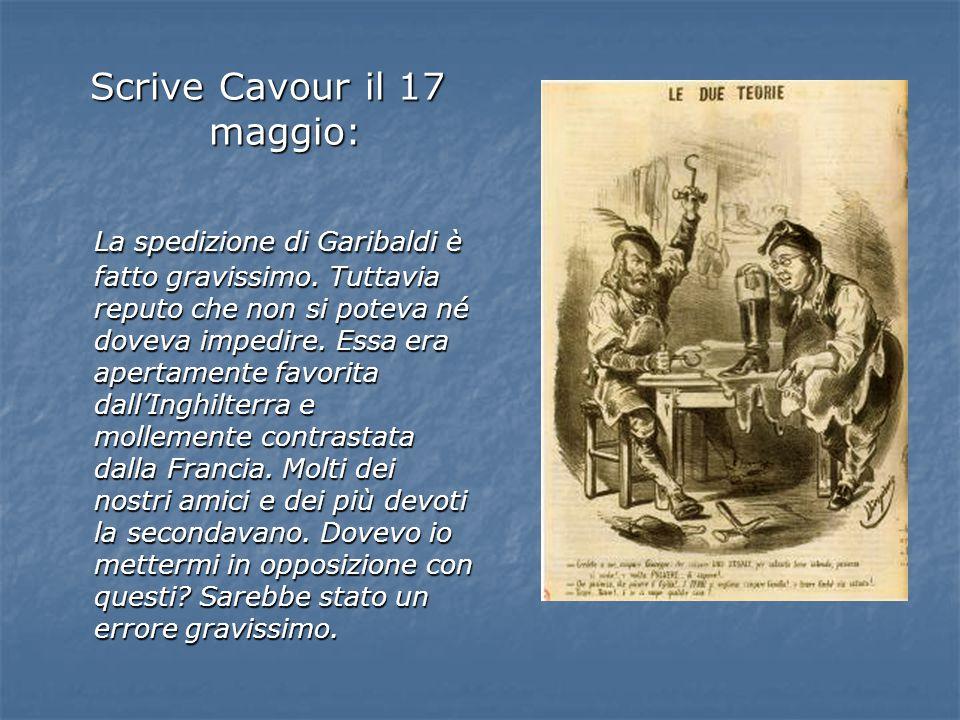 Scrive Cavour il 17 maggio:
