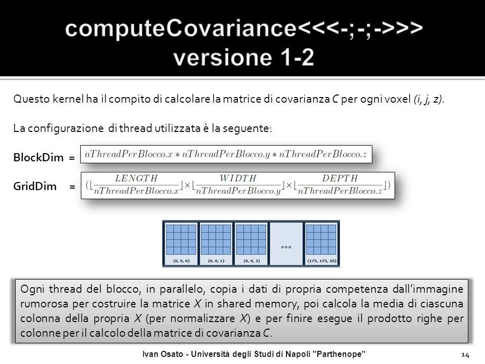 computeCovariance<<<-;-;->>> versione 1-2