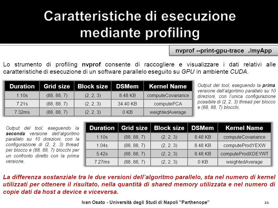 Caratteristiche di esecuzione mediante profiling