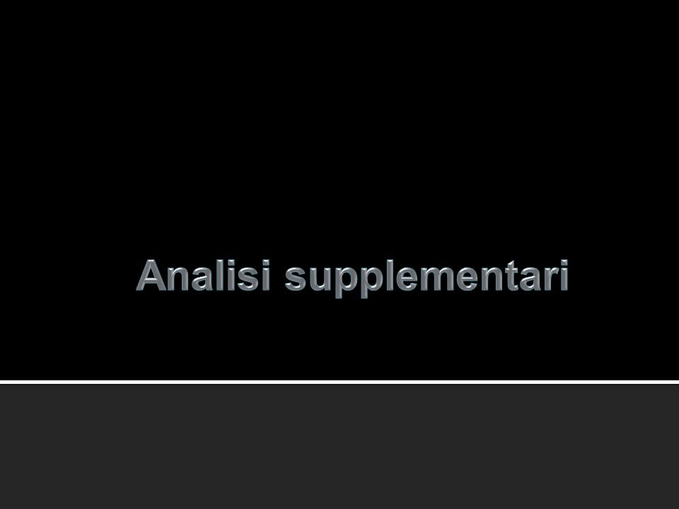 Analisi supplementari
