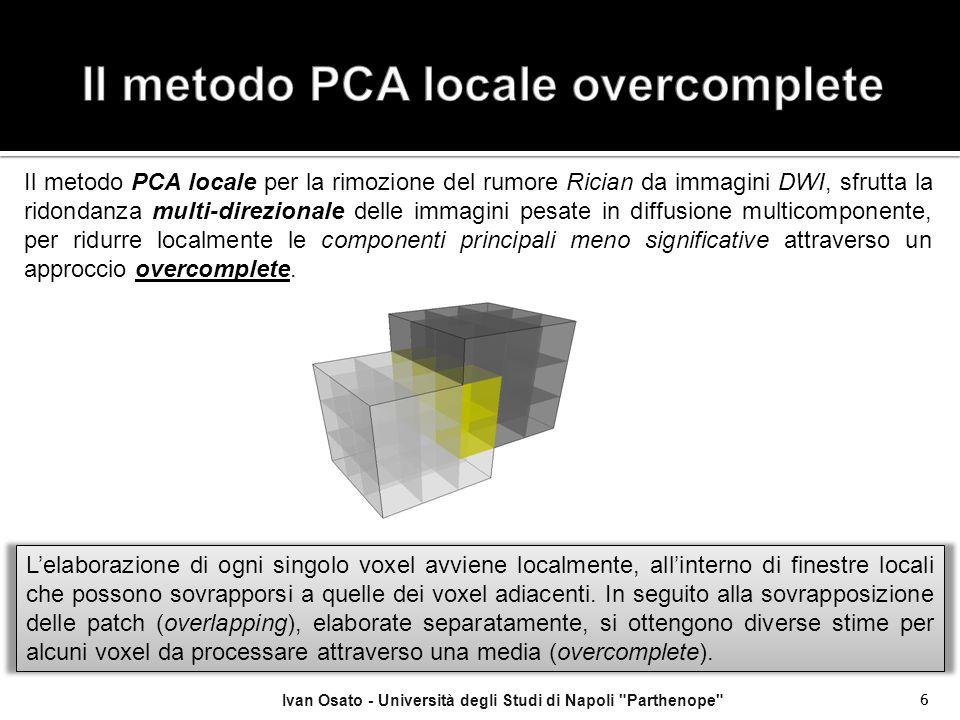 Il metodo PCA locale overcomplete