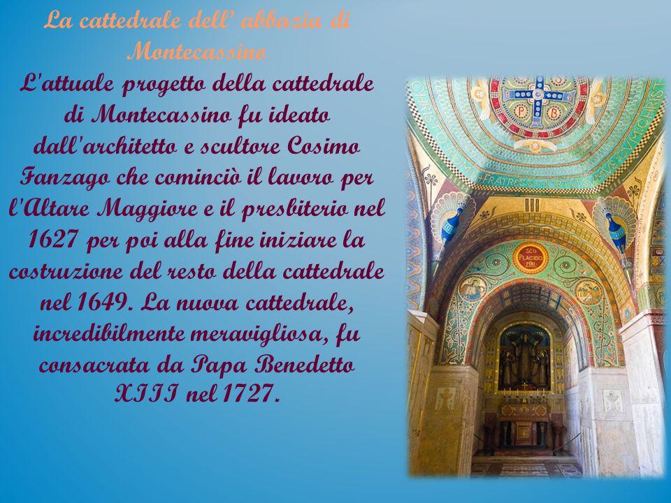 La cattedrale dell' abbazia di Montecassino