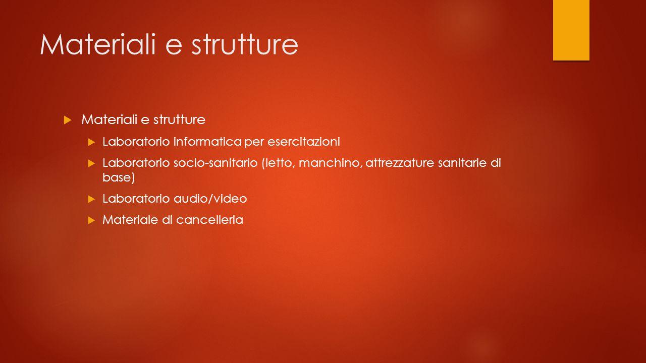 Materiali e strutture Materiali e strutture