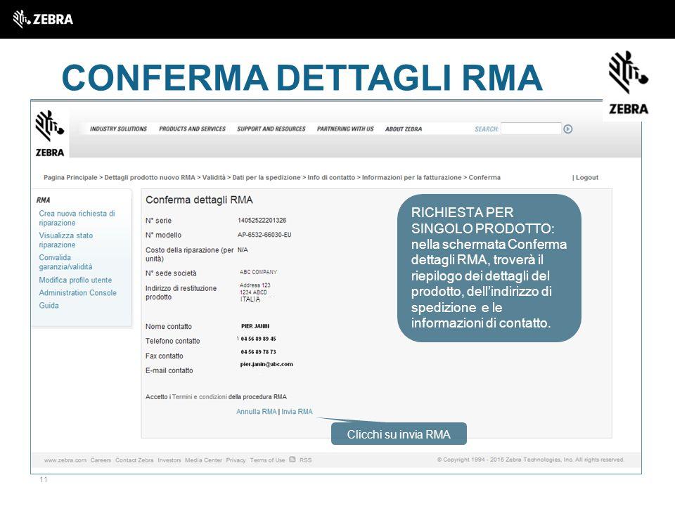 CONFERMA DETTAGLI RMA ITALIA.