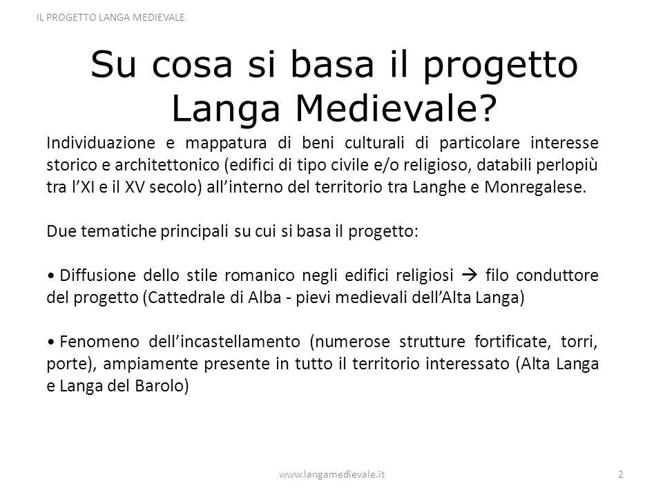Su cosa si basa il progetto Langa Medievale