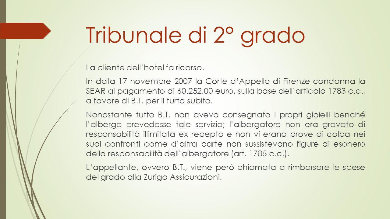 Tribunale di 2° grado