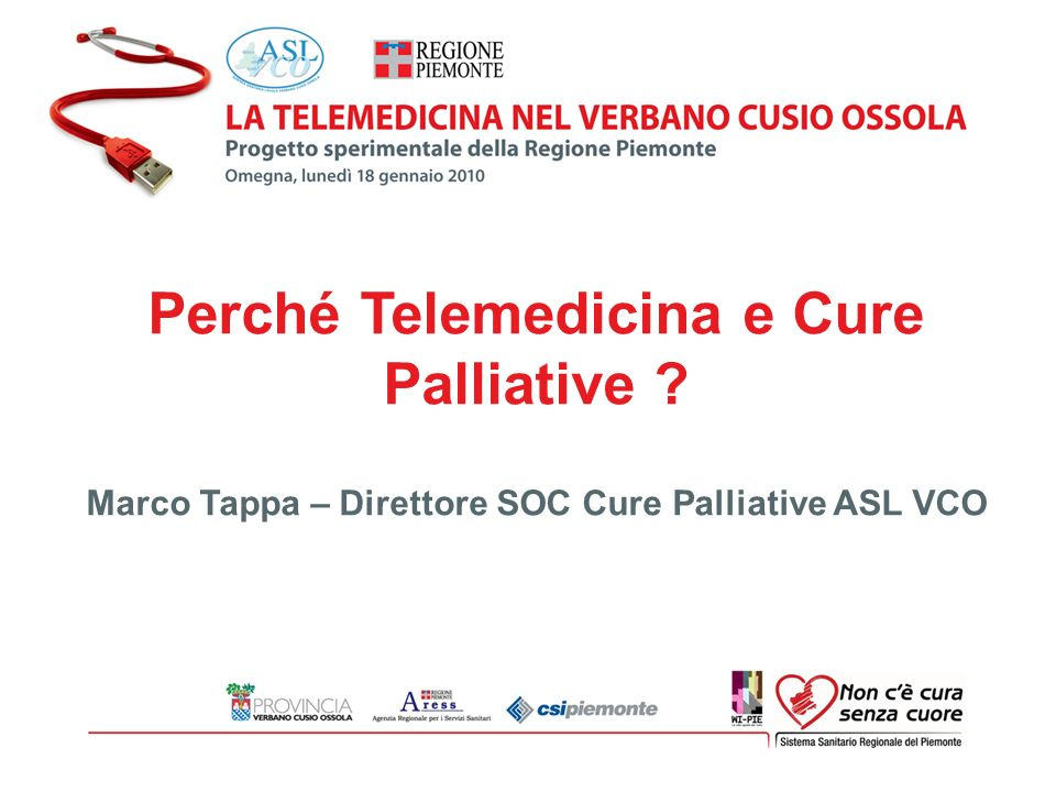 Perché Telemedicina e Cure Palliative