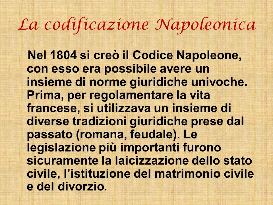 La codificazione Napoleonica