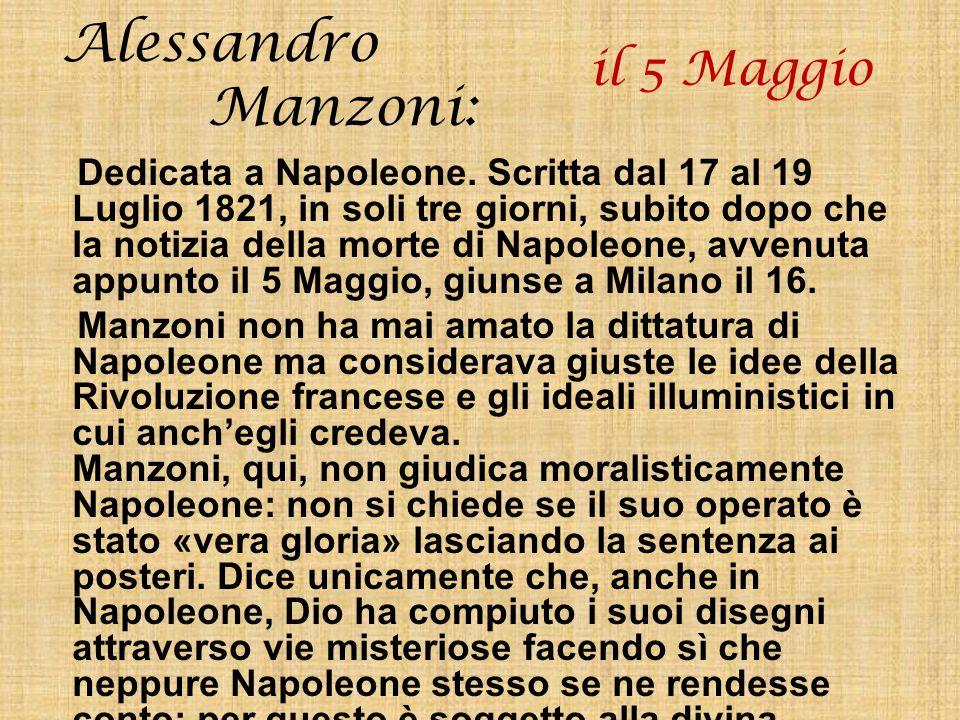 Alessandro Manzoni: il 5 Maggio