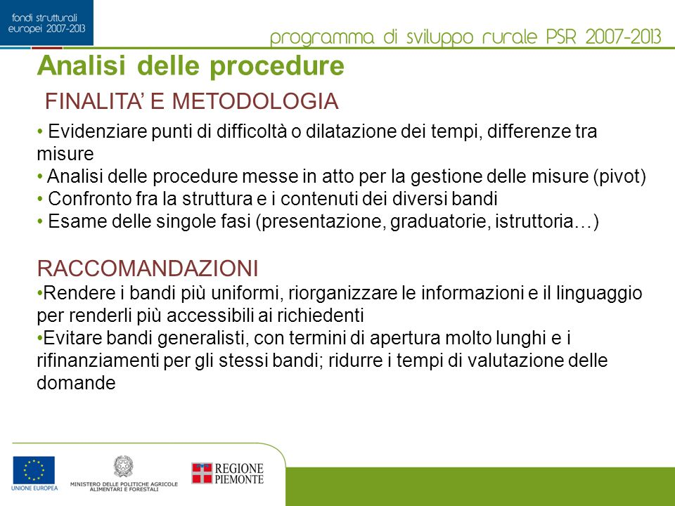 Analisi delle procedure