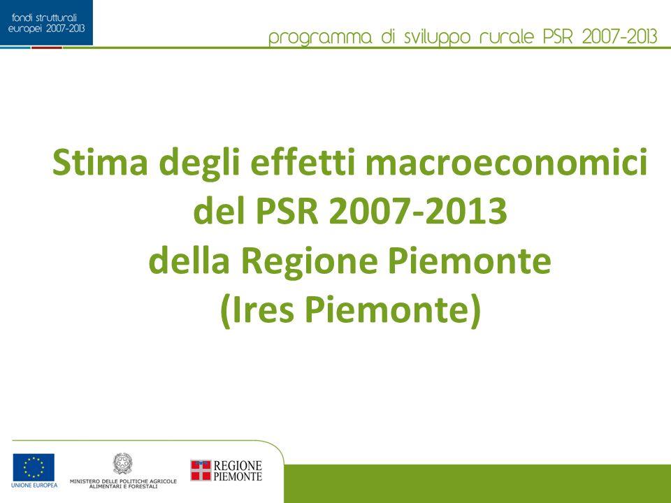 Stima degli effetti macroeconomici del PSR 2007-2013 della Regione Piemonte (Ires Piemonte)