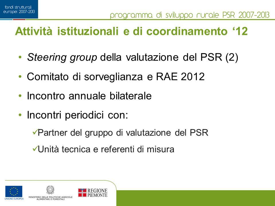 Attività istituzionali e di coordinamento '12