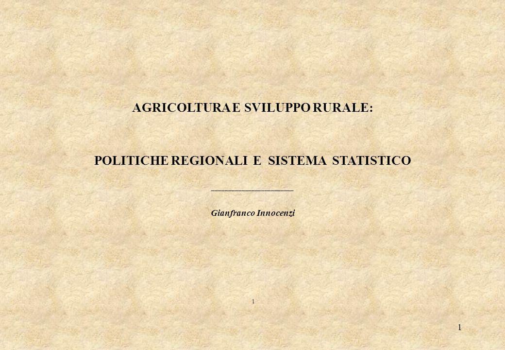 AGRICOLTURA E SVILUPPO RURALE: