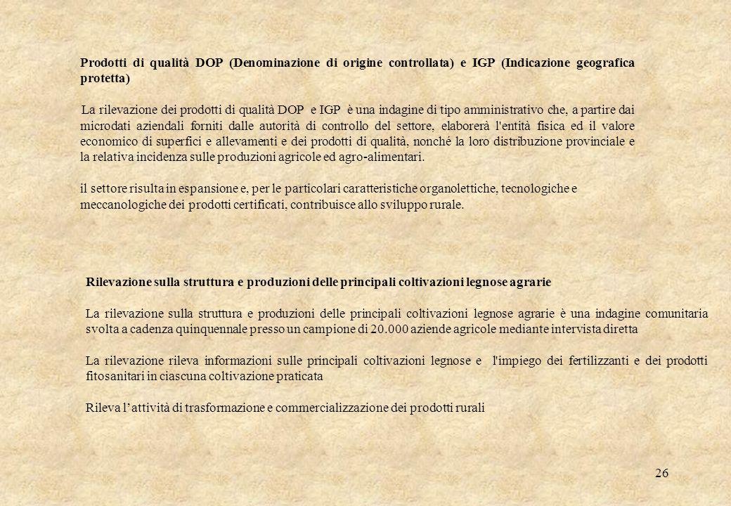 Prodotti di qualità DOP (Denominazione di origine controllata) e IGP (Indicazione geografica protetta)