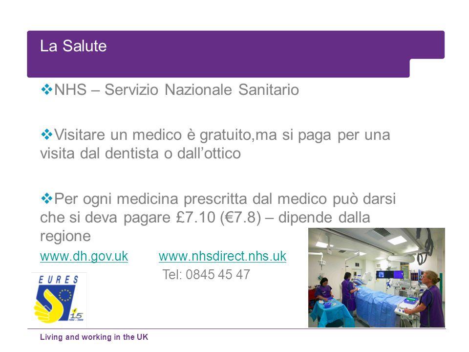 La Salute NHS – Servizio Nazionale Sanitario