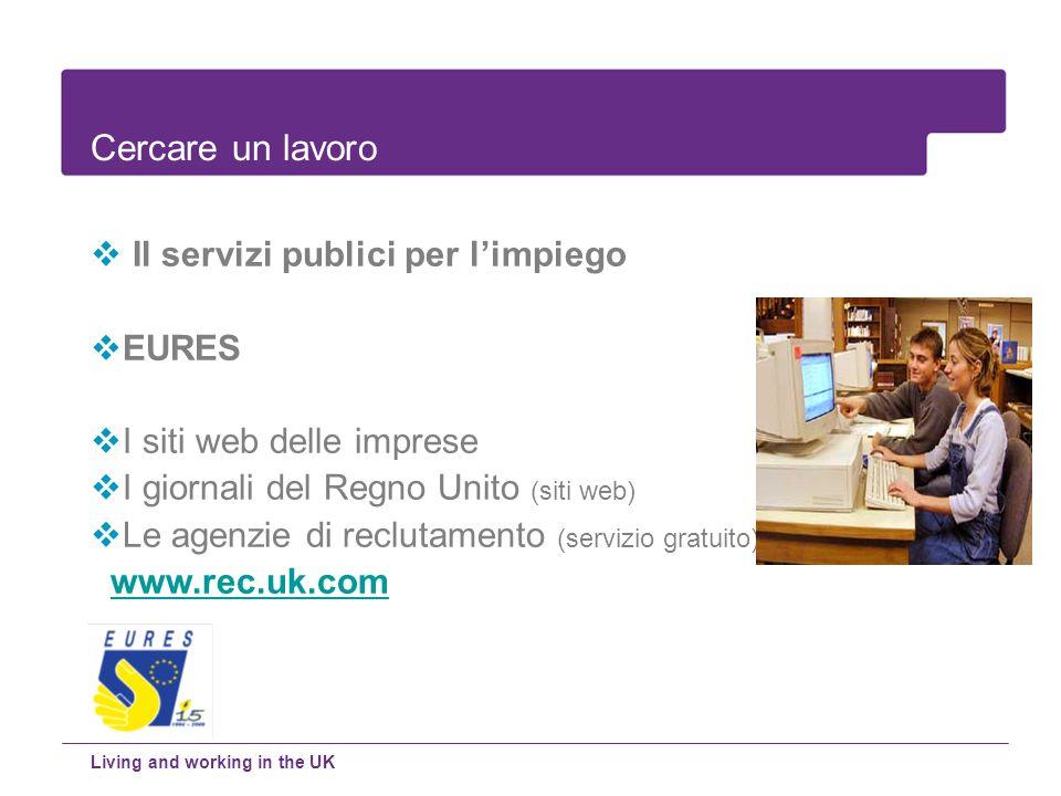 Cercare un lavoro Il servizi publici per l'impiego EURES